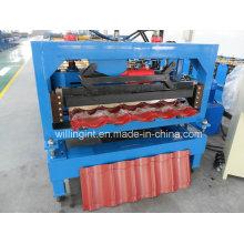 Machine de formage de rouleaux de toit de tuiles en acier enduit de couleur CE