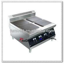 K460 acero inoxidable 4 placas calientes mesa cocina eléctrica