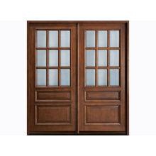 Waterproof Custom Timber Doors With Natural Wood Veneer Frame