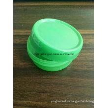 Botella de cosméticos con tapa de plástico molde