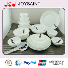 Newest Design Coupe Shape Porcelain Ceramic Dinnerware Set