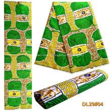 Tissu 100% polyester imprimé wax africain