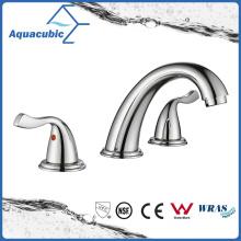 Grifería sanitaria del grifo del lavabo del cuarto de baño de 3 agujeros (AF1732-6C)