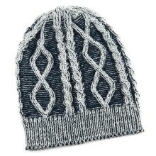 Gorro de chapéu de malha de inverno de jacquard de cabo de malha unissex (HW151)