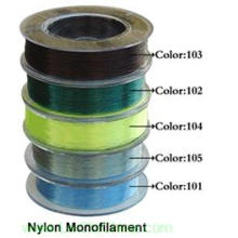 Linha de pesca de monofilamento de nylon