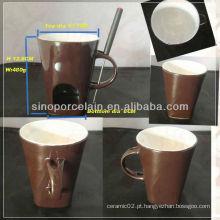 Novo Fondue cerâmica especial com alça para BS130125A