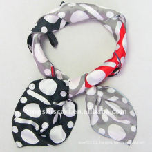 Polka Dot Satin Square Scarf