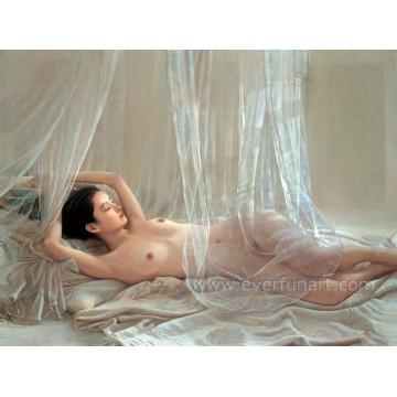 Home Arte decorativa Pintado à mão Sexy Naked Woman Pintura
