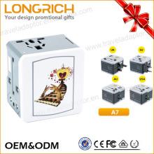 LongRich OEM y ODM adaptador de viaje europeo para el teléfono adaptador USB