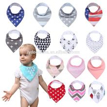 100% младенца хлопка нагрудник Подарочный набор-Нагрудники унисекс для слюни и Прорезывание милый ребенок бандана Нагрудники