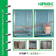 Heavy Duty 3 Sided Wire Mesh Roll Container