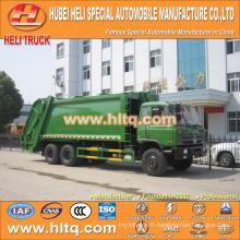 DONGFENG 6x4 16/20 m3 camion compacteur à déchets lourds moteur diesel 210hp avec mécanisme de pressage