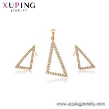 65006 xuping la joyería más nueva de la forma del triángulo de la manera simple fijada para las mujeres