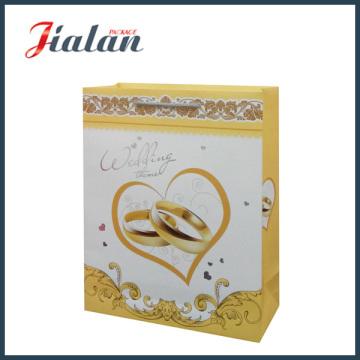 High-End for Golden Ring Wedding Shopping Gift Paper Bag