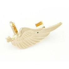 Heißer Verkaufs-einzigartiger Gold- und silberner Flügel-Ohr-Stulpe-Ohrring-Schmucksachen EC39