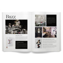 Impression de magazine faite sur commande de magazine de mode de couverture souple parfaite