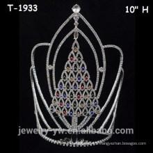 Grandes couronnes colorées de Noël
