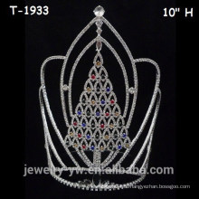 Крупные цветные хрустальные рождественские елочные короны