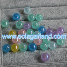 10-16MM Acrylic Translucent Round AB Finished Jelly Beads Spacer Gumball Beads Charms