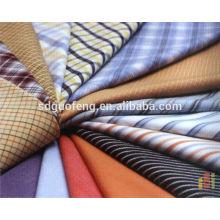 Tissu prêt-à-porter à manches courtes et longues 100% coton teint