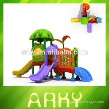 2015 outdoor park play structure garden kids plastic slide KFC kids play toys