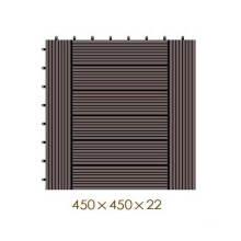 450 * 450 * 22 WPC / madera de plástico compuesto de bricolaje piso