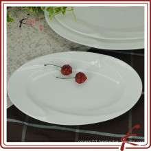 White ceramic Oval Serving Platter