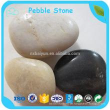 Fabrik besten Preis schwarz dekorative poliert Fluss Pebble Stein