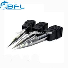 Peu de gravure de commande numérique par ordinateur de BFL, outils de coupe de forme de V de gravure de carbure mini