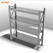 Powder coated medium duty steel boltless longspan shelf