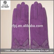 Nuevos guantes sin dedos de la piel del conejo del precio bajo de la manera del diseño