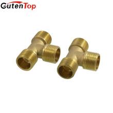 GutenTop de alta calidad de latón fontanería accesorios de tubería de latón macho roscado igualdad camiseta