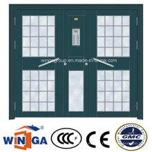 South Africa Hot Sale Steel Security Metal Glass Doors (W-GD-35)