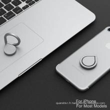 2017 vente chaude doigt en métal porte-anneau 360 degrés titulaire collant bague pour téléphone mobile
