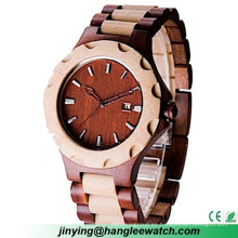 Reloj de moda de madera natural puro