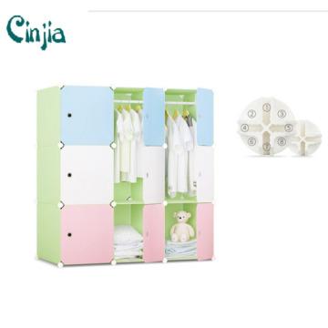 Anpassungsfähiger Cube DIY Storage Kleiderschrank Schrank, Plastik Kleiderschrank