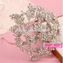 Лучшая распродажа модная хрустальная свадебная свадебная корона тиары