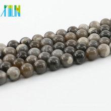 L-0565 Venta al por mayor de todo tamaño Imagen gris Jasper Stains Cuentas de piedra natural para joyería DIY