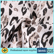 Leopard Print Rayon Fabric for Women Dresses Fabric