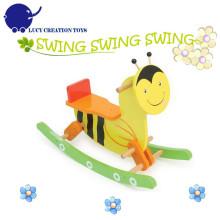 Klassische Fahrt auf Tiere Spielzeug Biene Kinder Schaukelpferd