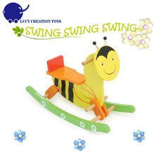 Classic Ride on Animals Toy Bee Kids Rocking Horse