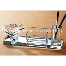 Decoração de mesa de escritório de vidro cristal de qualidade superior para presentes de negócios