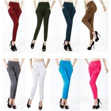 Moda Feminina Cintura Alta Colorida Harem Pants Sr8228