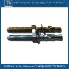 Anclas de cuña de acero galvanizado M6-M20