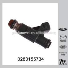 Caudal estático a 3 bar 186,6 g / min válvula de inyección de gasolina BOSCH 0280155734 para el recorrido FORD Dodge 2.7 V6