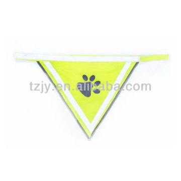 100% polyester yellow reflective safety vest for dog