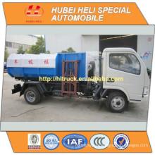 DONGFENG 4x2 5M3 pequeña venta colgante de la basura del cubo del cubo 95hp caliente para la exportación
