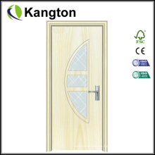 Diseño de puerta de madera de PVC interior económico (puerta de madera de PVC)