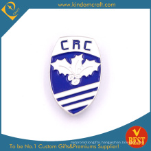 Hot Sale CRC Promotion Shield Shape Metal Pin Badge with Baking Finish