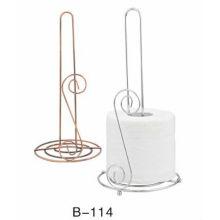 Forquilha de ferro forjado sala de estar toalha tubo papel higiênico suporte toalha rack toalha tubo três vezes solteiro S